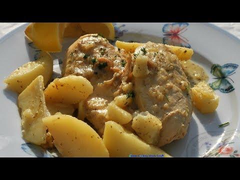 Greek Lemon Chicken with Potatoes - Kotopoulo lemonato