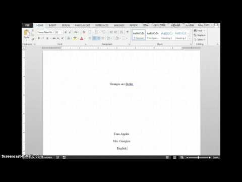 How to Create a Title Page in Word