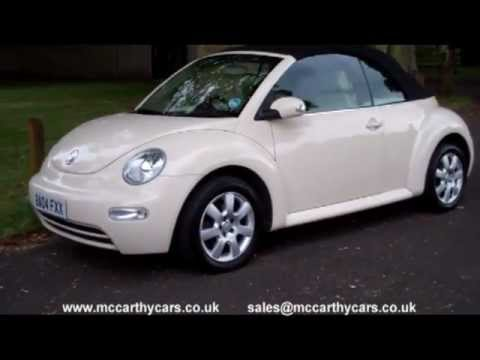 Used VW Volkswagen Beetle Convertible BA04 for sale Croydon Surrey UK Kent McCarthy Cars