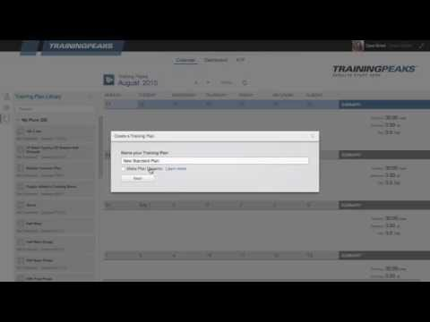 Create a training plan in TrainingPeaks