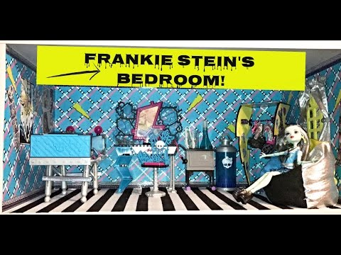 HOW TO MAKE A MONSTER HIGH DOLL ROOM FOR FRANKIE STEIN