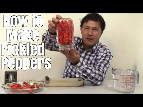 How to Make Pickled Peppers - Easy 3 Ingredient Recipe