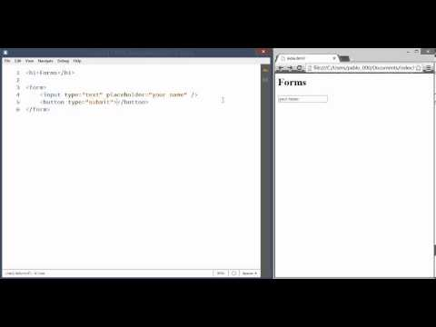 HTML Forms Tutorial, Create Web Forms