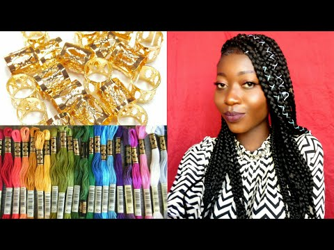 DIY Accessorize Your Braids With | THOSE STRING THINGS ?