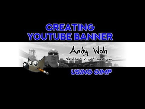 create youtube banner using gimp