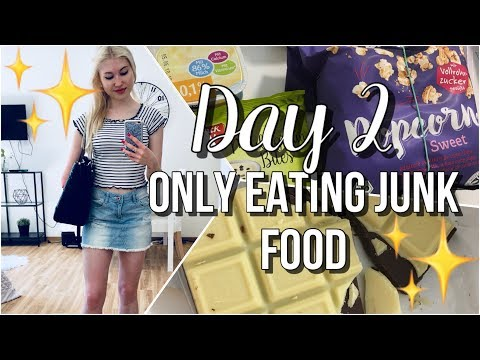 What I Eat - Only Eating Junk Food Day 2 [Anorexia Recovery]