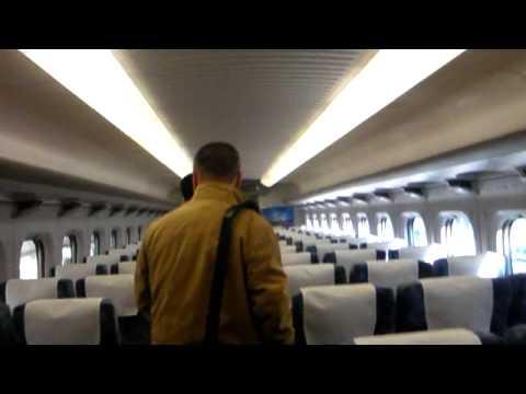Boarding amazing Shinkansen train - Tokyo to Osaka - HD
