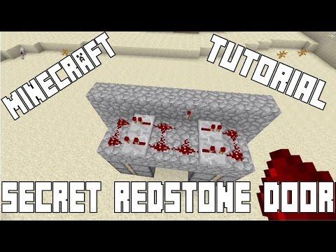 Simple Secret Redstone Door (Minecraft, Xbox 360, Xbox One, PS3,PS4, PC)