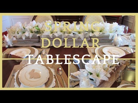 SPRING Dollar Store Tablescape ~ Rustic Charm