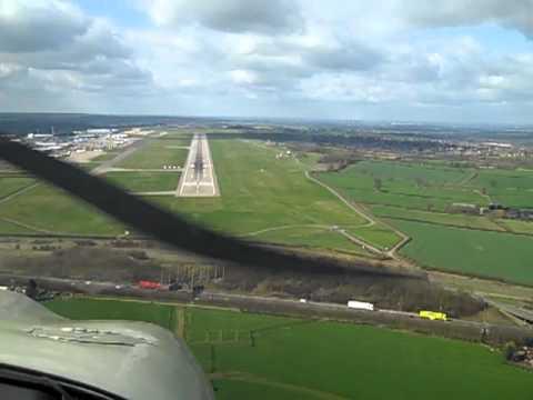 Landing At Nottingham East Midlands Airport, UK.