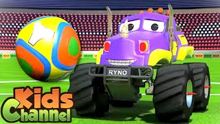 Monster Truck Dan in Goal | Car Cartoon Videos for Children | Street Vehicles by Kids Channel