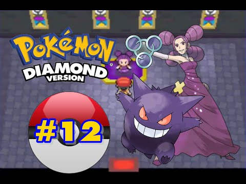 Pokemon Diamond - Part 12 - Hearthome City Gym Leader Fantina!