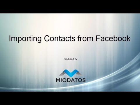 Importing Contacts from Facebook