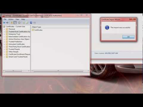 How to Add a Trusted SSL Certificate to Windows 7 via Firefox