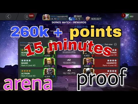 Secret of making millions points in arena | Explain in Detail | Marvel contest of champions