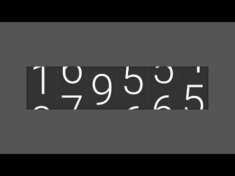 Development of NUMBER TICKER ODOMETER Widget JavaScript SCSS