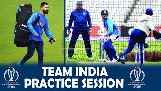 Latest: Indian Team Practice Session Full Video | ICC Cricket World Cup 2019 | IND vs NZ
