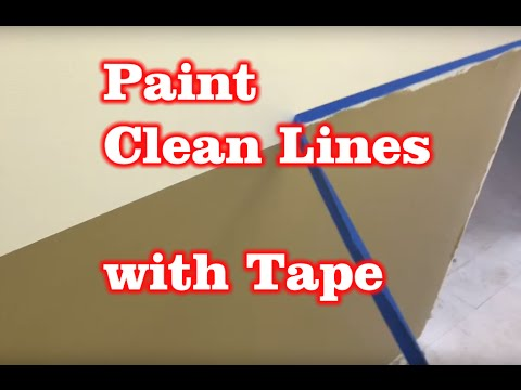 How to Paint Clean Even lines with painter's tape