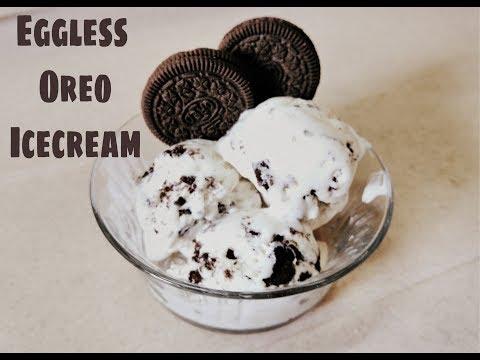 Homemade Eggless Oreo Ice cream   3 ingredient Cookies and Cream Ice cream