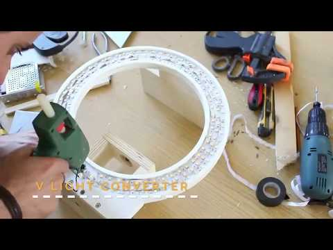 How to make your own powerfull RING LIGHT diy