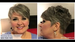 Going Grey Series: The New Pixie And Styling Paste For Short Hair.