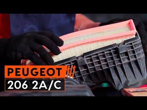 Como mudar filtro de ar do motor PEUGEOT 206 Tutorial | Autodoc