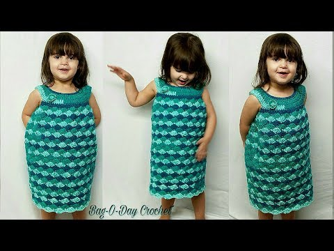 How To Crochet Dress | The Lil' Sea Princess Toddler Dress | Easy Crochet Tutorial #477