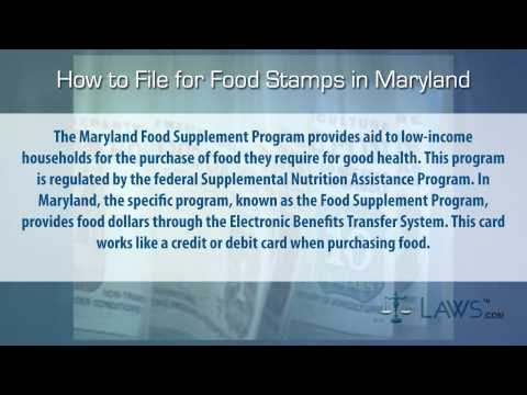 How to File for Food Stamps Maryland