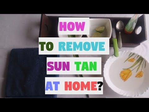 How To remove Sun Tan & Sun Burn ? - Aloe & Lemon