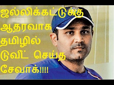 ஜல்லிக்கட்டுக்கு ஆதரவாக தமிழில் டுவீட் செய்த சேவாக் | Jallikattu : Sehwag Tweet in Tamil