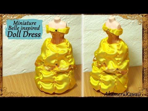 Disney's Belle inspired Doll Dress - Fabric Tutorial