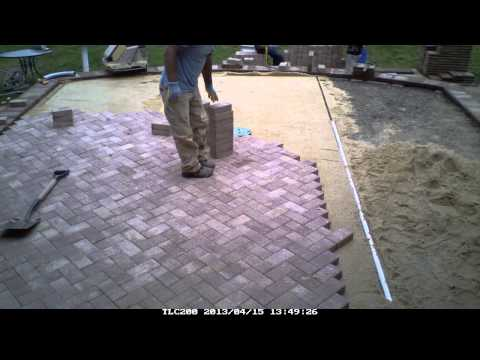 Time Lapse, Patio Paver installation