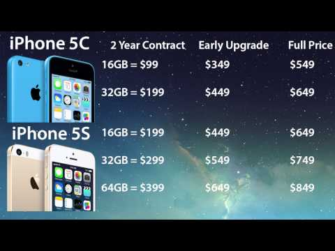 iPhone 5S & iPhone 5C Prices: 2 Year Contract, Early Upgrade, & Full Price Info