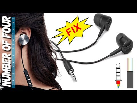 How to Fix  Earphone Working on One Side | How to wiring 5 wire in 4 pole Earphone jack