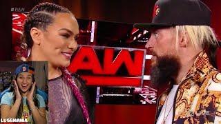 WWE Raw 12/4/17  Nia Jax and Enzo backstage