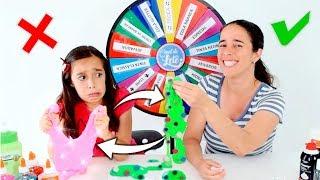 DESAFIO DA ROLETA MISTERIOSA DE SLIME COM TROCA ★ The Mystery Wheel of Slime Switch-Up Challenge