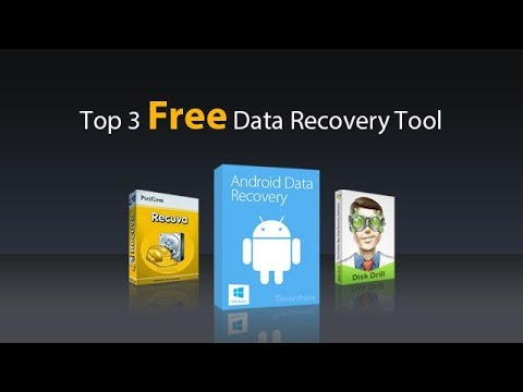 Top 3 Best Free Data Recovery Tool/Software - 2018