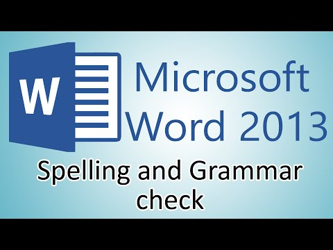 Microsoft Word 2013 Tutorial - Spelling and Grammar Check