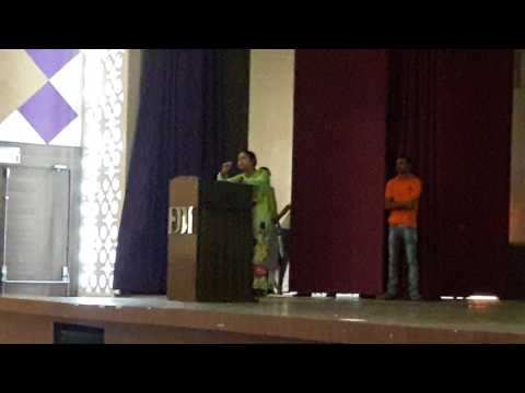 Shashwati Bhowmick performing in closing ceremony in FDDI Chhindwara