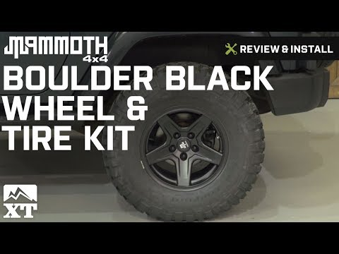 Jeep Wrangler Mammoth Boulder Black Wheel & Tire Kit (2007-2016 JK) Review & Install