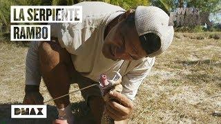 Wild Frank se la juega y coge sin protección una víbora de Gabón