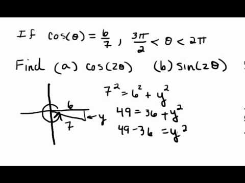 Given cos(x), find cos(2x) and sin(2x)