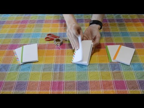 How to Make a Mini Sketch Book from a sheet of paper (EASY)