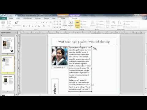 Publisher 2010  Working with Text
