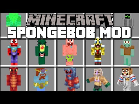 Minecraft SPONGEBOB MOD / SURVIVE BIKINI BOTTOM IN MAYHEM!! Minecraft