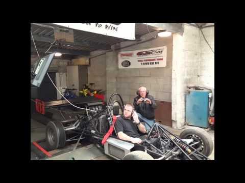 Rickys Hayabusa turbo engine single seater on the dyno