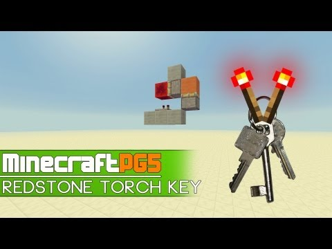 [Tutorial] Super Easy Redstone Torch Key - Compact & Cheap - Minecraft