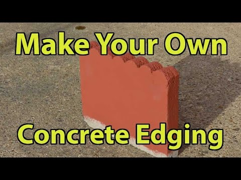 Make Your Own Concrete Edging Part 2