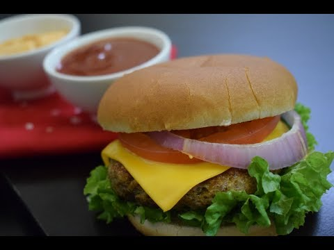 Minced Chicken Cheese burger Recipe