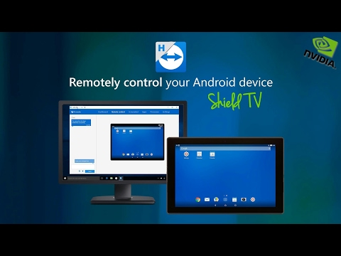 TeamViewer: Remote Controlling Nvidia Shield TV with Full Android Nougat | APP SPOT